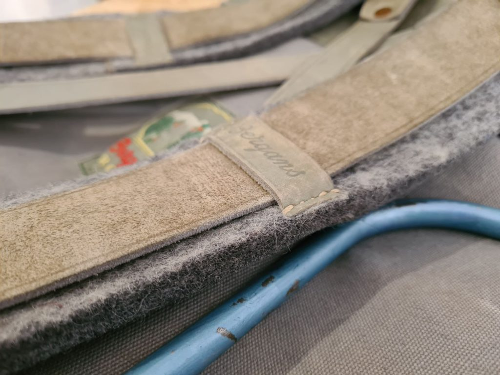 wool felt used as padding material on a 1950's Bergan backpack